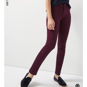 Wine-colored jeggings